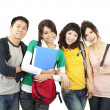 Stock Photo: Four young happy students
