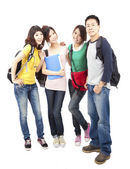 Happy group of young asian students — Stock Photo