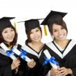 Three asian Graduation Girls — Stock Photo