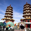 Famous Tower and dragon and tiger, taiwan - Stock Photo