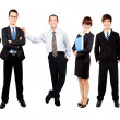 Successful happy asian business team — Stock Photo #6203092