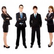 Stock Photo: Young asian business team isolated on white background