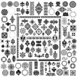 100 different style elements - Stock Vector