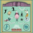 Vintage circus elements — Stock Vector #5957121