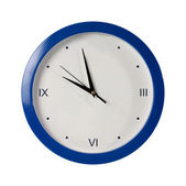 Blue round the clock on a white background — Stock Photo