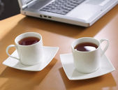 Tea at office — Stock Photo