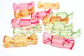お菓子。白のオブジェクト — ストック写真