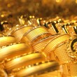 Gold jewelry background / soft selective focus - Stock Photo