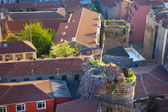 Picturesque Old town aerial view / rooftops pattern — Stock Photo