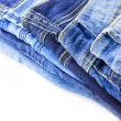 Blue Jeans isolated on white background — Stok fotoğraf