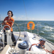 Stock Photo: Young Mis Sailboat Captain