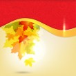 Autumn background with leaves and copy space for your text / eps — Stock Vector #6729521