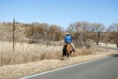 Man to horse — Stock Photo