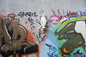 Virgin and graffiti — Stock Photo