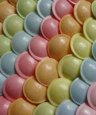 Ufo shaped candy sweet in different colors — Stock Photo