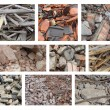 Composition with different types of rubble from demolition — Stock Photo