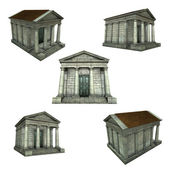 3d render of a typical Greek Roman temple on white — Stock Photo