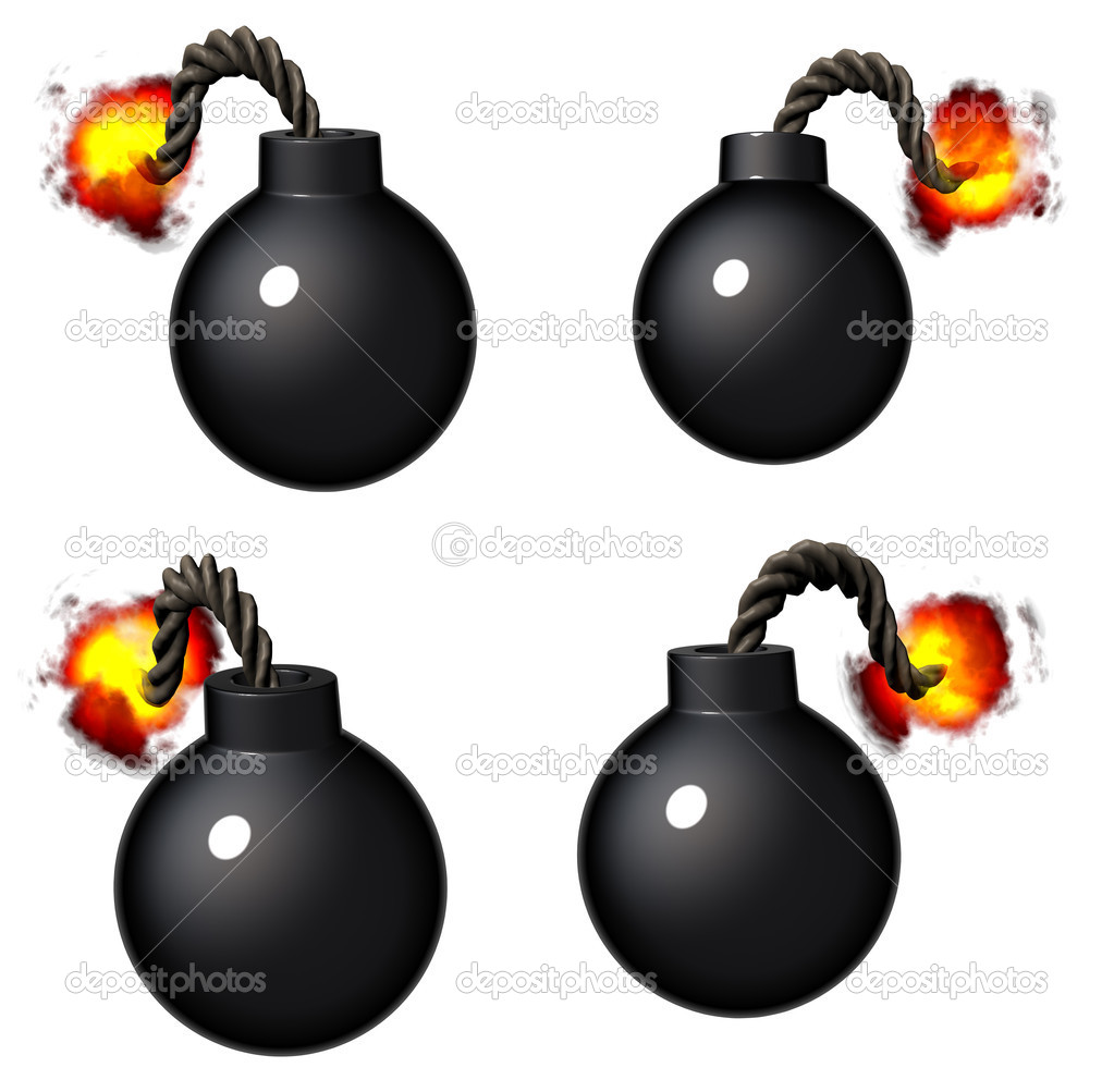 3d render of a vintage cartoon style pirate bomb  — Stock Photo #5705421