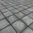 Stock Photo: HD 3d render of square pavement tiles in gray stone concrete
