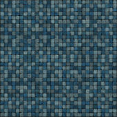 Large 3d render of blue mosaic wall floor — Stock Photo