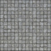 Detailed 3d render of square pavement tiles in gray stone concre — Stock Photo