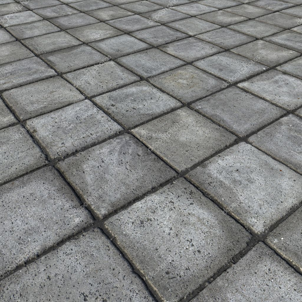 Hd 3d render of square pavement tiles in gray stone for 3d concrete tiles