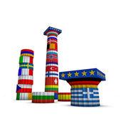 ギリシャ、ヨーロッパ、ユーロ諸国の 3 d イラストレーション — ストック写真