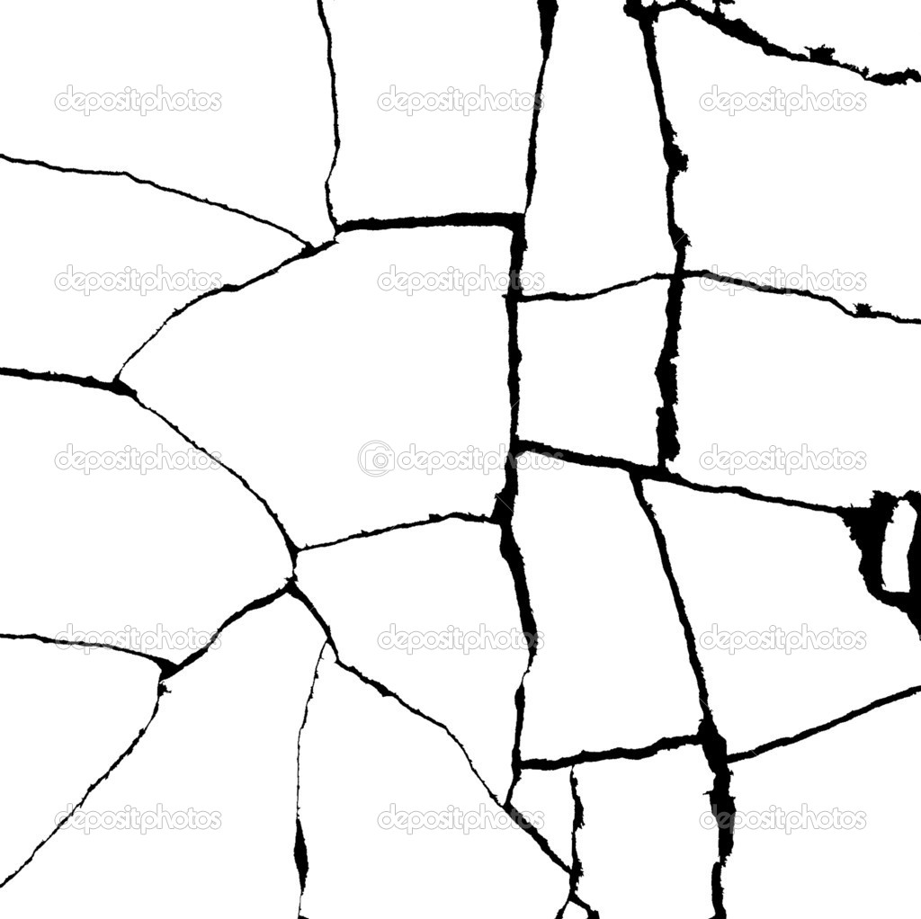Crack in stone tile bump alpha map for 3d — Stock Photo #6123945