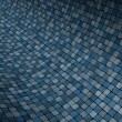 Stock Photo: 3d render concave curved blue grunge mosaic surface