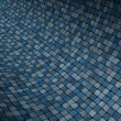 Stockfoto: 3d render concave curved blue grunge mosaic surface