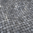 Stock Photo: 3d render wobble mosaic tile floor wall surface