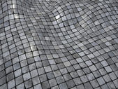 3d render wobble mosaic tile floor wall surface — Stock Photo