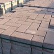 Stock Photo: Tack of rectangular and square pavement stones