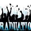 Graduation in silhouette — Stock Vector #5776191