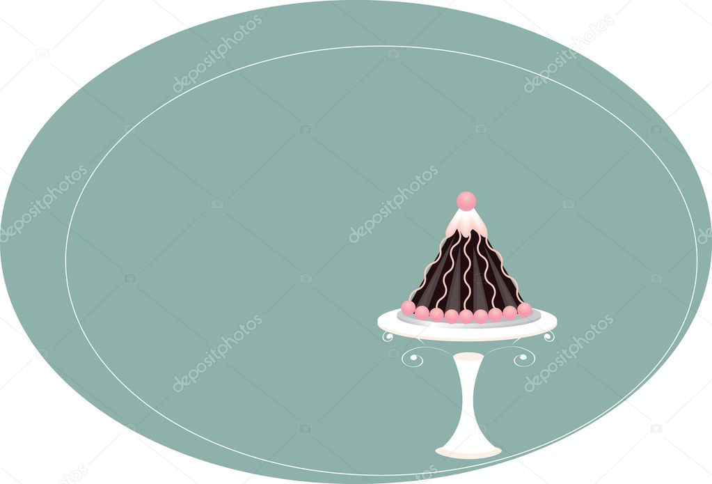 Cake on background — Stock Vector #5932135
