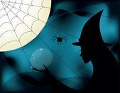 Bruxa de halloween — Vetorial Stock