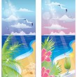 Summer banners, vector illustration — Imagen vectorial