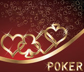 Poker banner, vector illustration — Stok Vektör