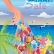 Summer sale card. vector illustration - Imagen vectorial