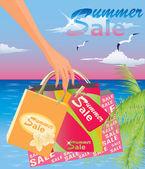 Summer sale. vector illustration — Stock Vector