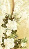 Kwiatowy kartkę z życzeniami, ilustracji wektorowych — Wektor stockowy