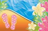 Bannière de l'heure d'été, illustration vectorielle — Vecteur