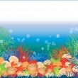 Underwater banner, vector illustration — Stock Vector #5569164