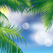 Tropical background, vector illustration — Stock Vector #5628739