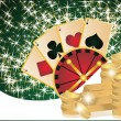 Royalty-Free Stock Vector Image: Casino background with poker elements, vector