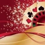 Gambling Poker background, vector illustration — Stock Vector