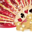 Royalty-Free Stock Vector Image: Poker background with golden coins, vector illustration