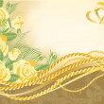 Wedding love greeting card, vector illustration — Stock Vector