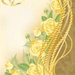 Wedding greeting card, vector illustration — Stock Vector #5689733