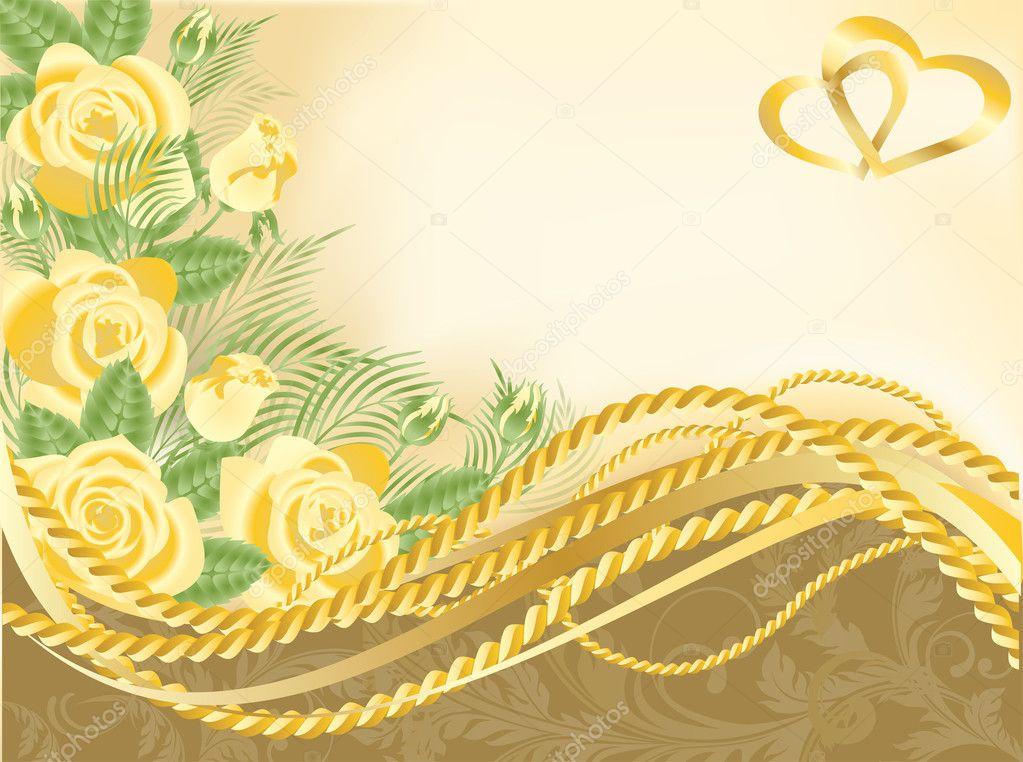 Wedding love greeting card, vector illustration - Stock Illustration